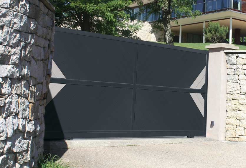 Horizal Anodised Collection - Akadia Aluminium Sliding Gate