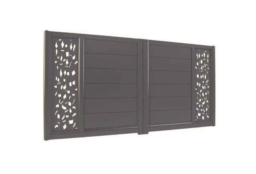 Horizal Lazer Collection - Izis Coup de Vent Aluminium Gates