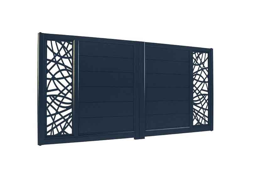 Horizal Lazer Collection - Izis Courbes Aluminium Gates