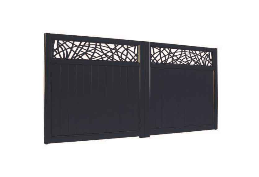 Horizal Lazer Collection - Muze Courbes Aluminium Gates