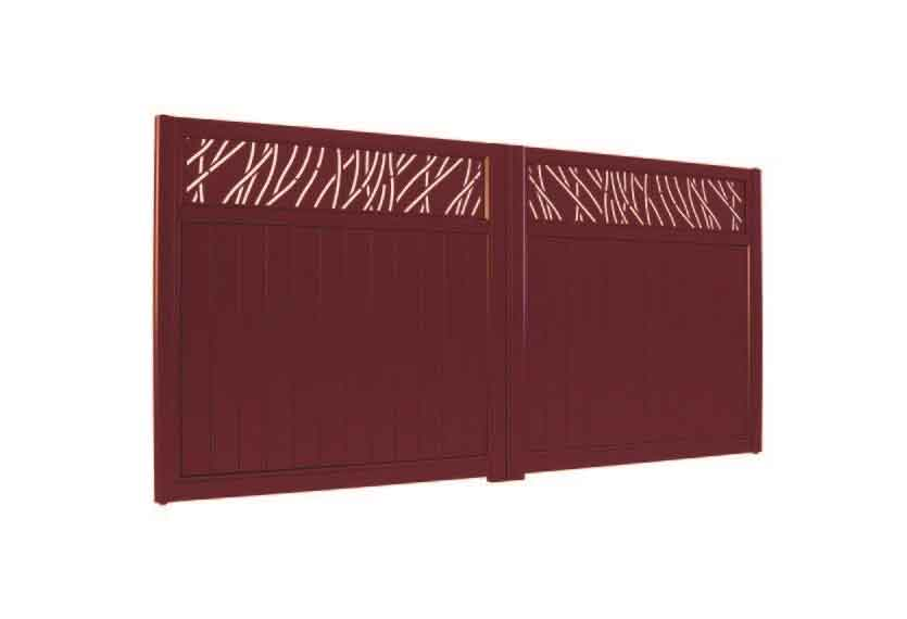 Horizal Lazer Collection - Muze Rythm Aluminium Gates
