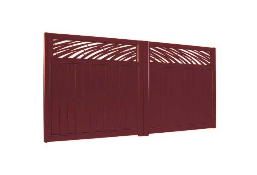 Horizal Lazer Collection - Muze Tropique Aluminium Gates