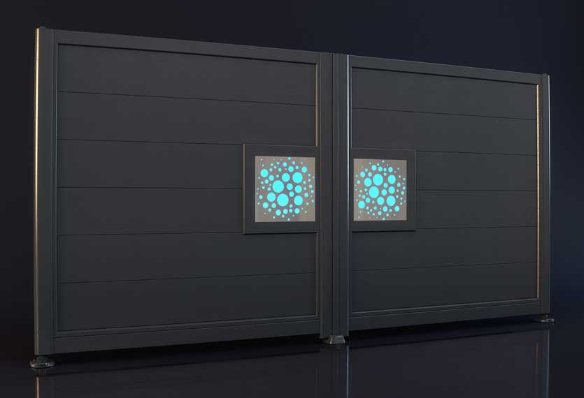 Horizal Night and Day Collection - Bubble Design - Aluminium Gates