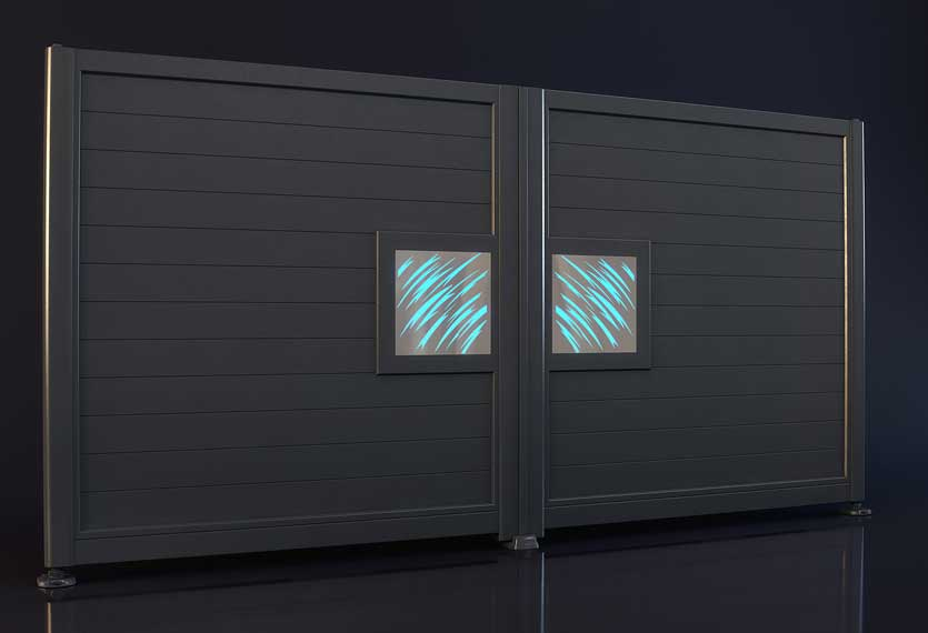 Horizal Night and Day Collection - Claws Design - Aluminium Gates