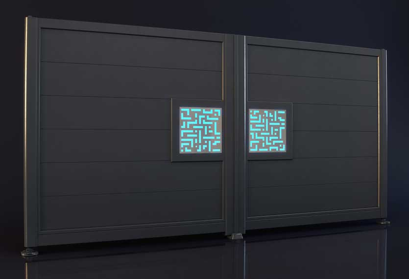 Horizal Night and Day Collection - Labrynth Design - Aluminium Gates