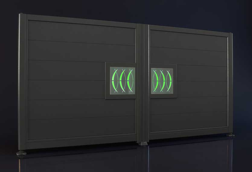 Horizal Night and Day Collection - Moon Design - Aluminium Gates