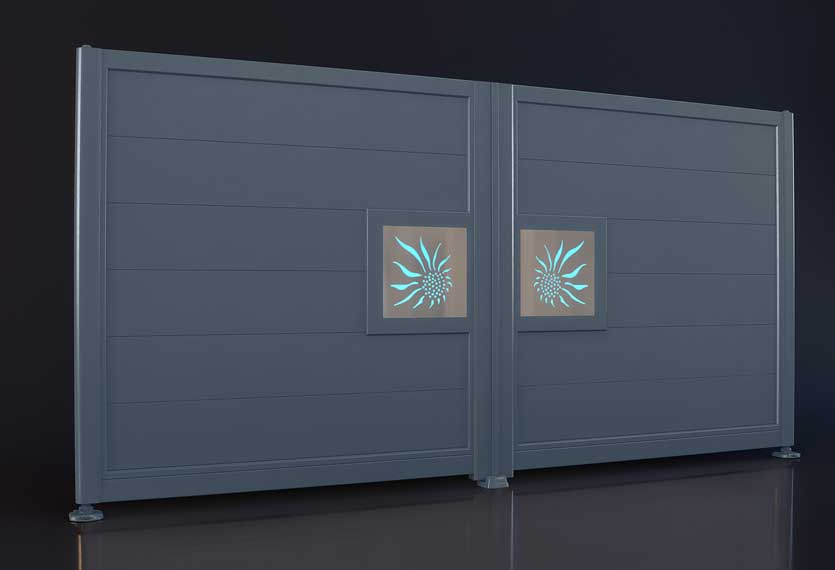 Horizal Night and Day Collection - Sun Design - Aluminium Gates