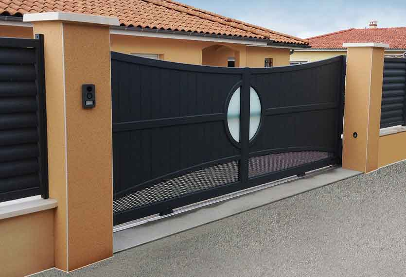 Horizal Revelation Collection - Naos 1 Concaved Aluminium Sliding Gates