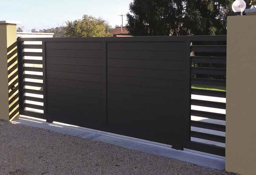 Horizal Revelation Collection - Tera Aluminium Sliding Gates