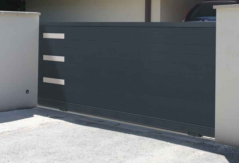 Horizal Stainless Collection - Senso Aluminium Sliding Gates