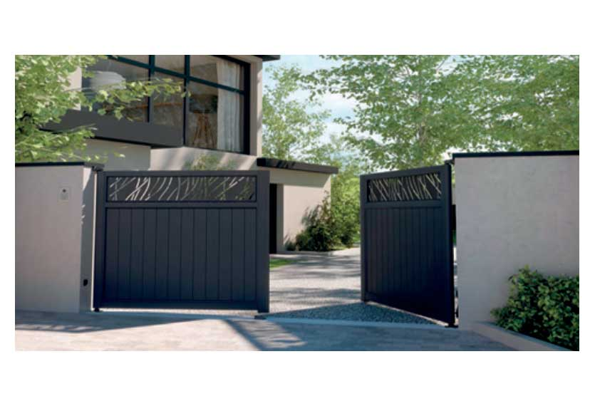 Horizal Lazer Collection - Lazer Muze with 'Rythme' patterns - Aluminium Gates