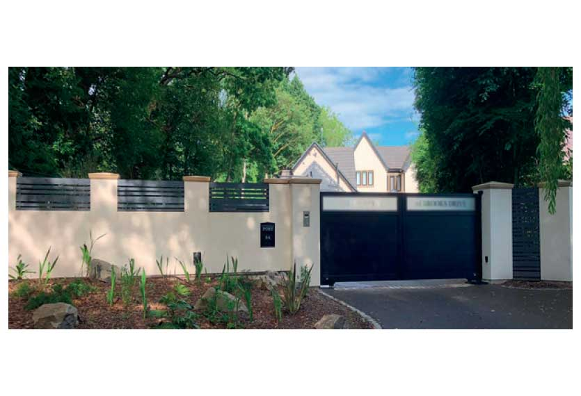 Horizal Lazerglass Collection - Muze Swing Gates Large Boards - Aluminium Gates