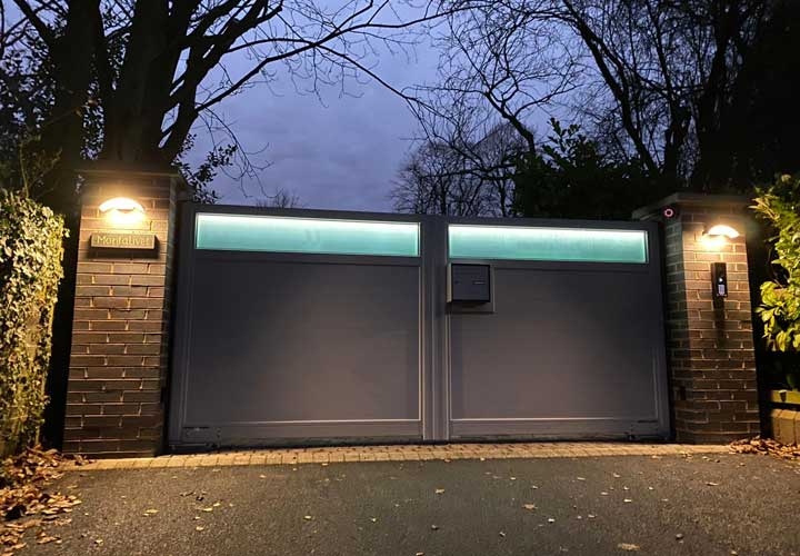 Horizal Lazerglass Collection - Backlight Option - Aluminium Gates